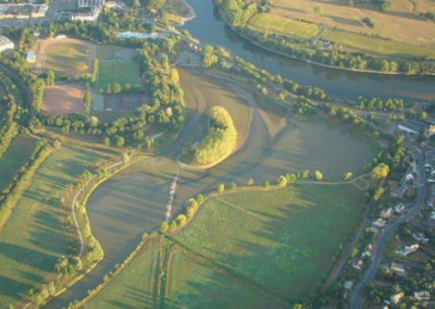 Enlèvement du seuil du plan d'eau, le Layon à Chalonnes-sur-Loire