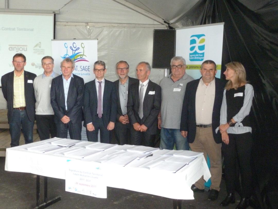 Signature du Contrat Territorial Layon Aubance Louets 2017-2021