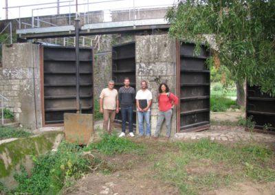 Réparation des portes des Mazeries sur la commune des Ponts de Cé