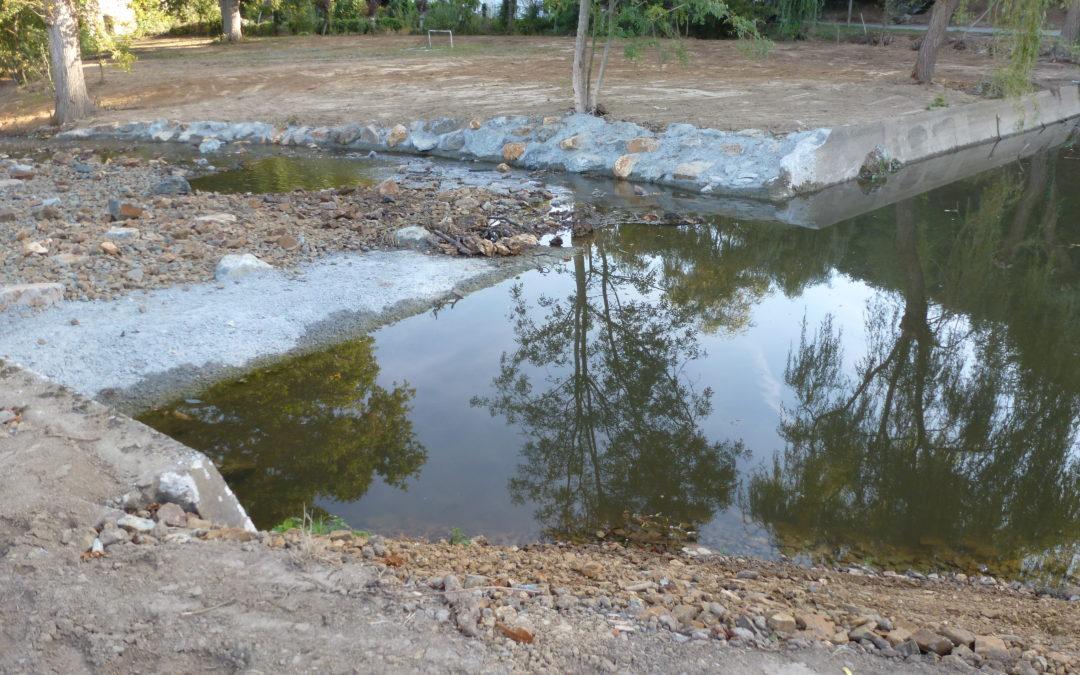 CHANZEAUX : restauration des berges de l'Hyrôme et de l'ancienne chaussée du Moulin de Frogeroux